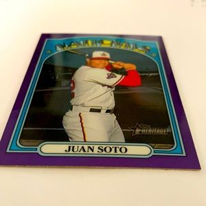 2021 Juan Soto heritage baseball card